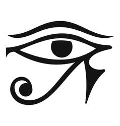 Eye of Horus Egypt Deity icon simple style vector