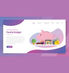 Family budget savings financial plan for website vector