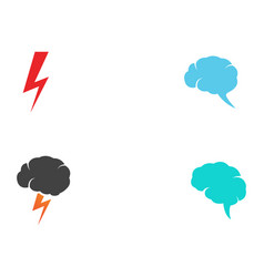 flash thunderbolt logo template vector image