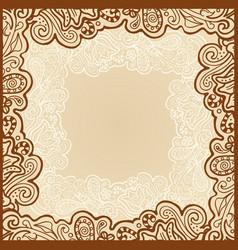 Gentle floral template vector