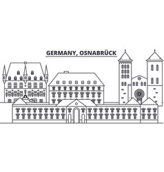 Germany osnabruck line skyline vector