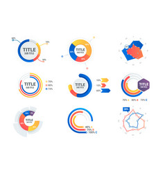 graphs and charts set statistic and data vector image