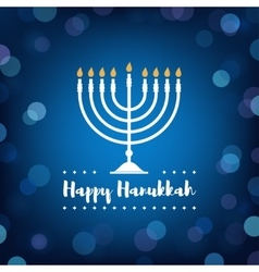 Hanukkah Candles on Bokeh Background vector