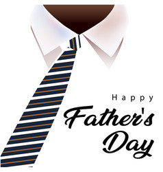 Happy father day necktie white shirt background vector