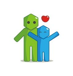 Hexagon Man - Affection vector image