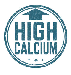 high calcium sign or stamp vector image