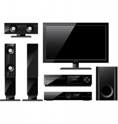 Home theater system vector