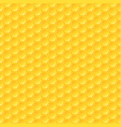 Honeycomb background seamless hexagons pattern vector