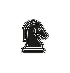 horse chess icon chess game horse - game strategy vector image