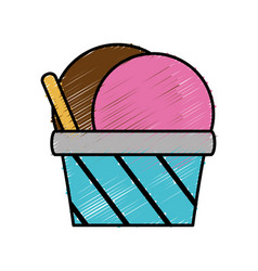 Ice cream cup icon vector