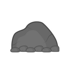 isolated comic stone icon vector image