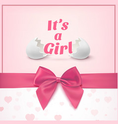 Its a girl template for bashower celebration vector