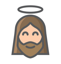 jesus filled outline icon easter and holiday vector image