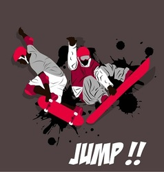 jump board action with skateboard and snowboard vector image