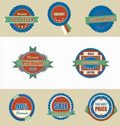 Labels icon vector image