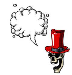 Laughing skull in top hat-100 vector