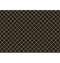Leather black gold background vector