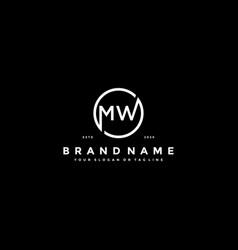 Letter mw logo design vector