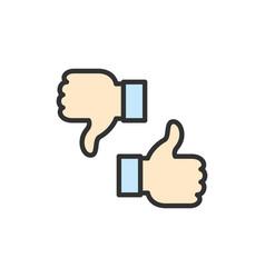 like dislike thumbs up and down feedback vector image