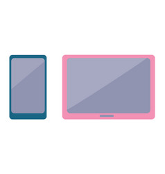 modern smartphone and stylish wide-screen tablet vector image