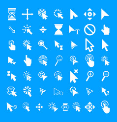 mouse cursor icons set simple style vector image