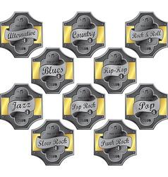 Music emblems vector