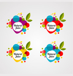natural juice logo icon element and template vector image