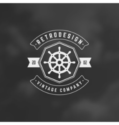 Nautical Retro Vintage Insignia Logotype vector image