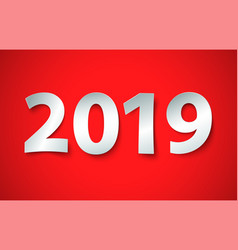 new year 2019 background cut paper vector image