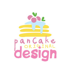 pancake original logo design emblem for vector image
