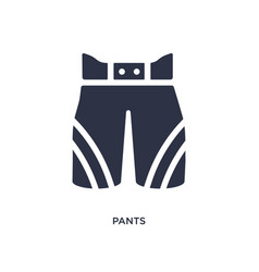 Pants icon on white background simple element vector