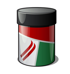 Plastic jar with ski wax isolated on a white vector