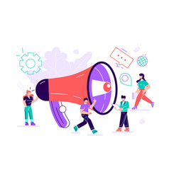 Public relations and affairs marketing team work vector