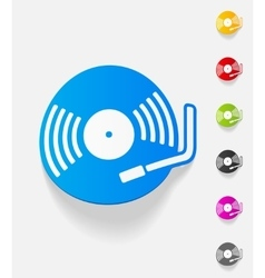 realistic design element turntable vector image