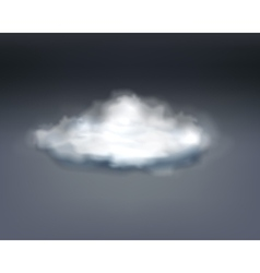 Realistic grey thundercloud vector image