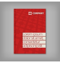 Red business design with headline and pattern vector image