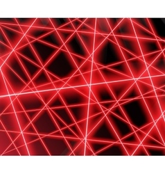 Red laser beams on a black backgroundeps 10 vector