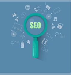 seo concept design website optimization vector image