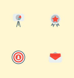 set of advertising icons flat style symbols with vector image