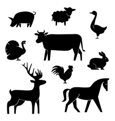 Set of butchery logotype templates Cartoon farm vector image