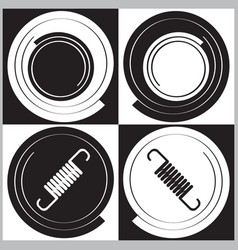 Set of icons with springs and spirals vector