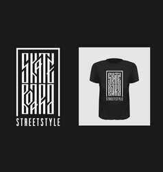 skateboarding t shirt print design vector image
