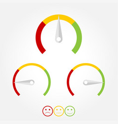 speedometer flat icon scale of emotions vector image