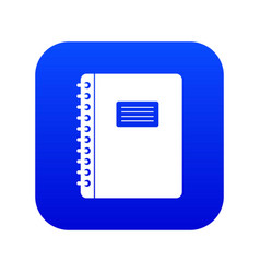 spiral notepad icon digital blue vector image