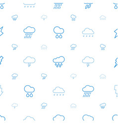 Storm icons pattern seamless white background vector