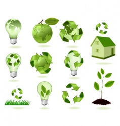 Super set of ecology icons vector