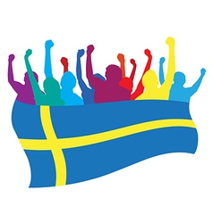 Sweden fans vector