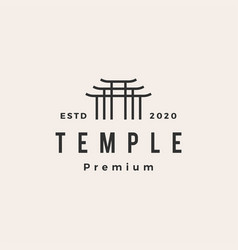 Temple hipster vintage logo icon vector