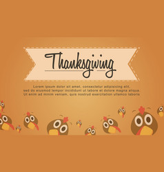 Thanksgiving turkey background style collection vector