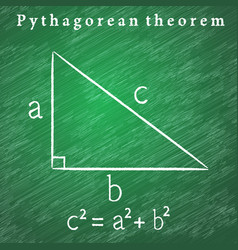 Triangle on the blackboard pythagorean theorem vector
